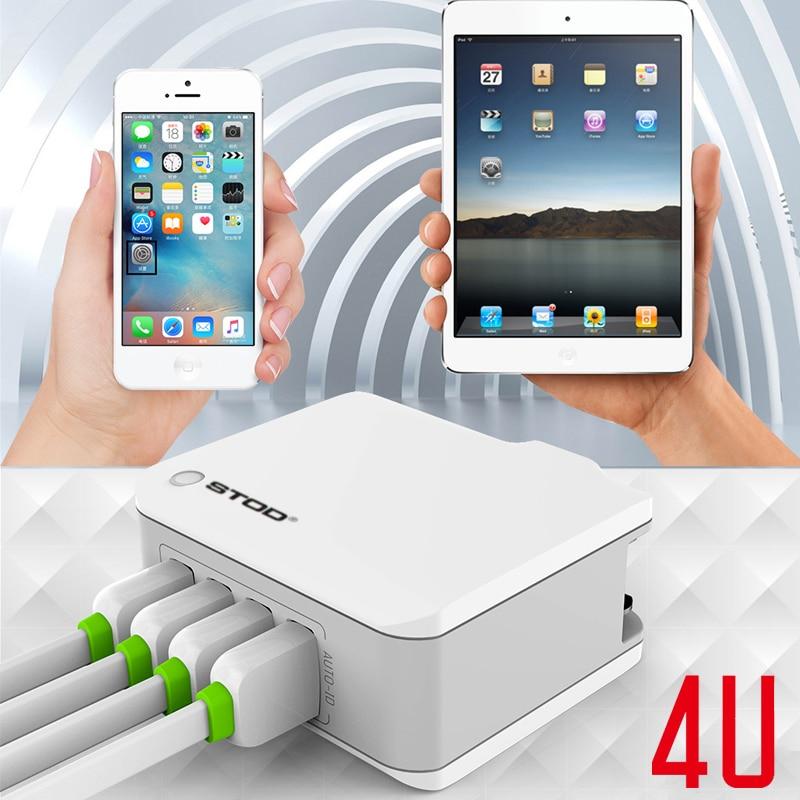 STOD Multi Port Travel Charger 4 USB 22W 4.4A Pengisian Cepat Untuk - Aksesori dan suku cadang ponsel - Foto 5