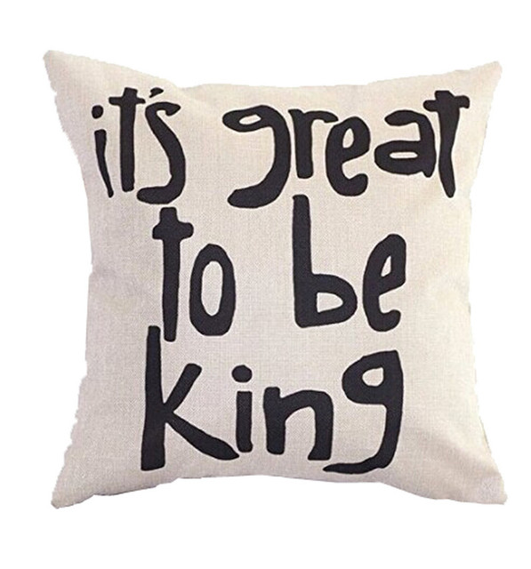 It's Great To Be King Square Decorative Throw Pillow Cushion Inspiration Clear Plastic Throw Pillow Covers