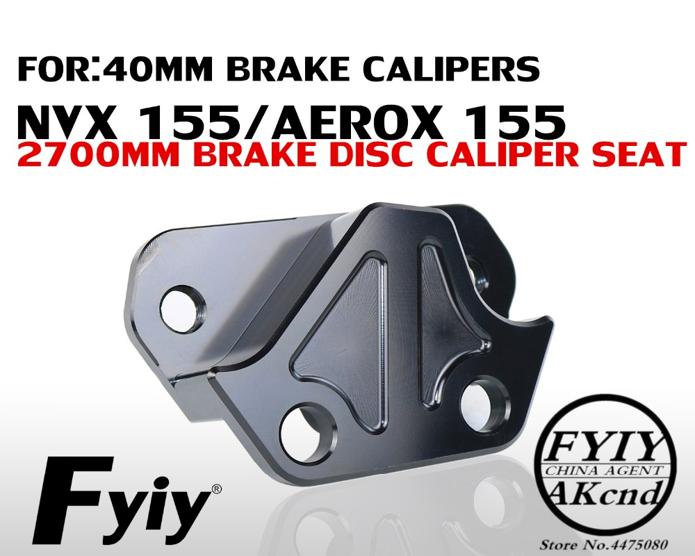 CNC aluminium alloy brake caliper bracket Motorcycle modifvation For Yamaha NVX155 Aerox 155 40mm brake caliper bracket-in Brake Shoe Sets from Automobiles & Motorcycles