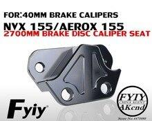 Cnc 알루미늄 합금 브레이크 캘리퍼스 브래킷 야마하 nvx155 aerox 155 40mm 브레이크 캘리퍼스 브래킷 용 오토바이 수정