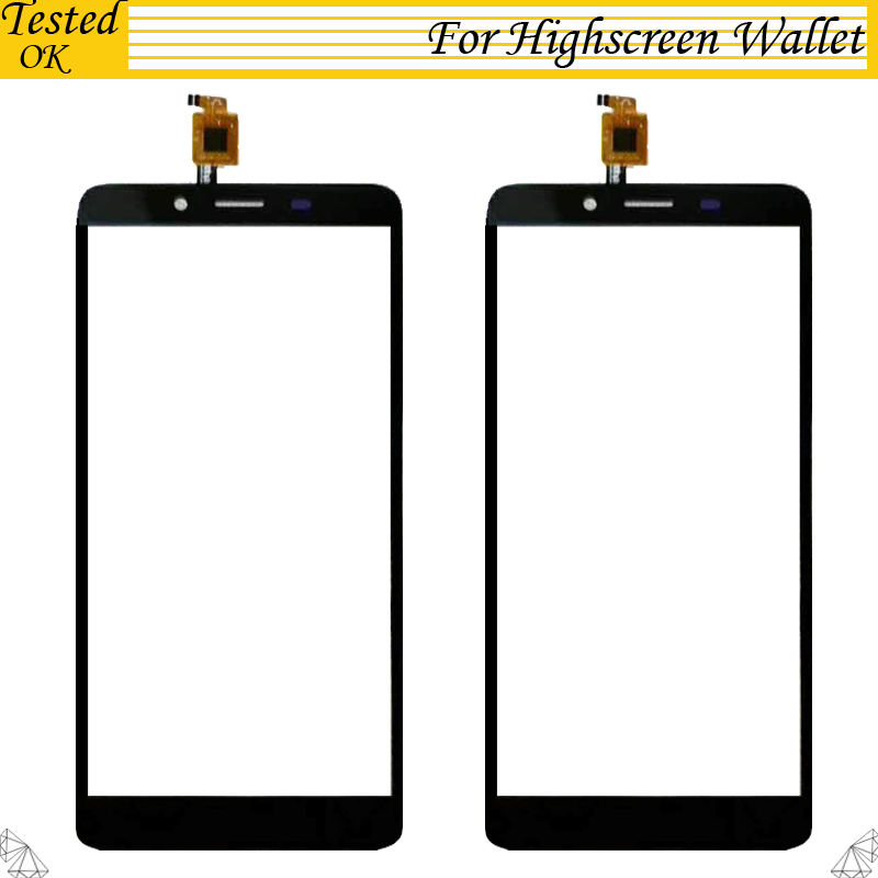 100% Tested Working For Highscreen Wallet Touch Screen Touch Panel Sensor Front Glass Replacement