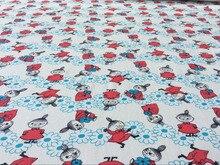 Japon belle moomin Petit Mon doux DIY Lycra Tricoté coton tissu À Coudre Patchwork bébé fille garçon chemise vêtements Literie
