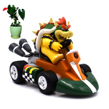 5 Anime Super Mario Bros Kart Pull Back Car Bowser Koopa PVC Action Figure Doll Collectible Model Baby Toy Christmas Gift [funny] original box 28cm game over watch azrael black death reaper ripper action figure collectible model doll toy kids gift