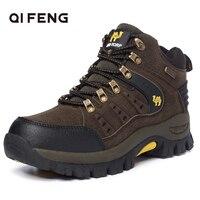 2019 Couples Outdoor Mountain Desert Climbing shoes. Men Women Ankle Hiking Boots, Plus Size Fashion Classic Trekking Footwear