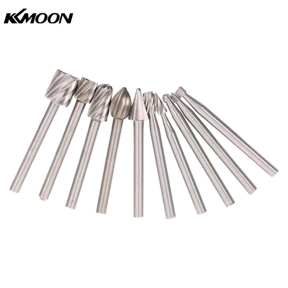 Electric Grinding Accessories 10pcs 3mm Shank HSS Router Bits Rotary Burr for Drill Woodworking Tool Set CNC Engraving