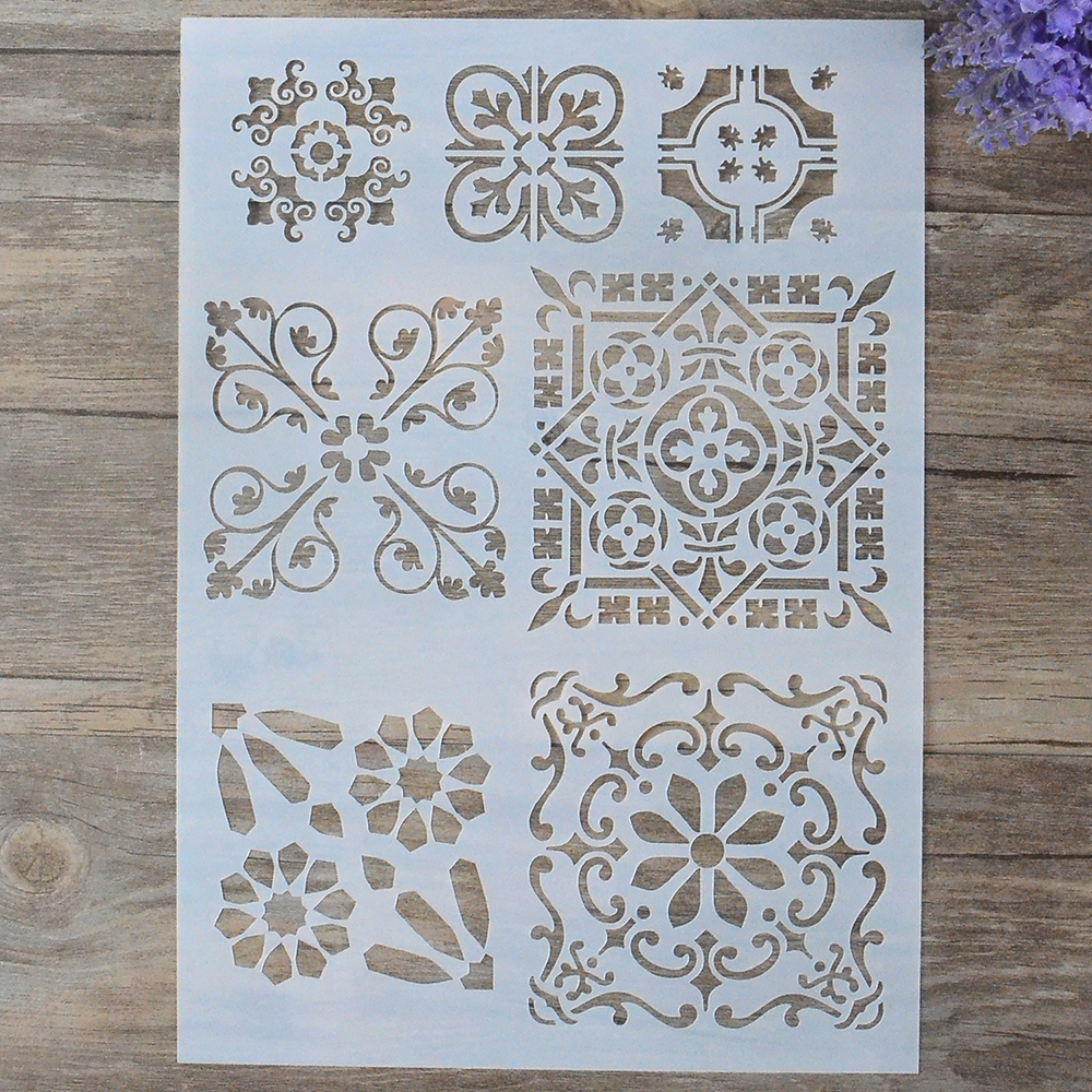 Buy diy craft layering stencils for walls for Craft paper card stock