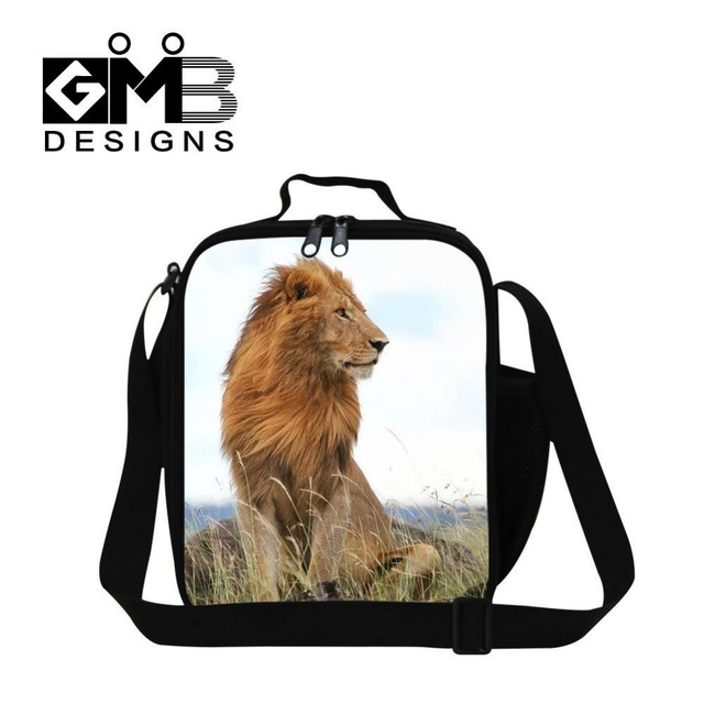 Forward Thermal Lunch Box Bag Cool Animal Lion Printed Tote With Zipper Bento