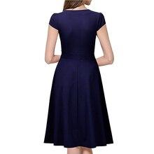 Formal V-Neck Dress for Women
