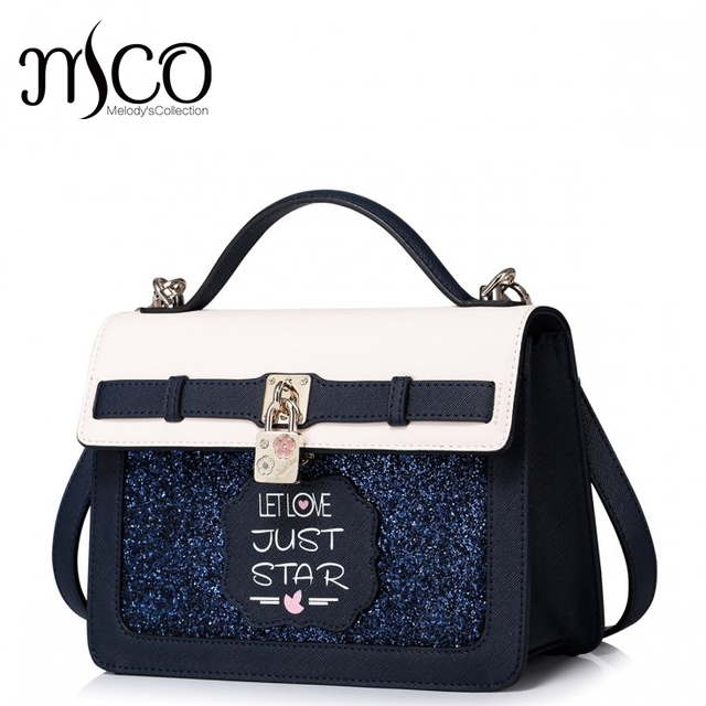 Summer Sparking Glitter Zipper Sweet Ladies Tote Shoulder Handbag Women Lock Sequined Cartoon Flashing Crossbody Messenger Bags