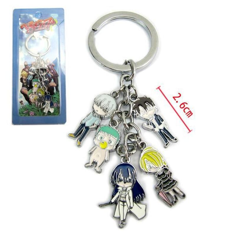 Beelzebub Aoi Kunieda anime llavero Tatsumi Oga Hildegarde lindo divertido 5 colgante muñeca llavero de metal Llaveros accesorios de joyería