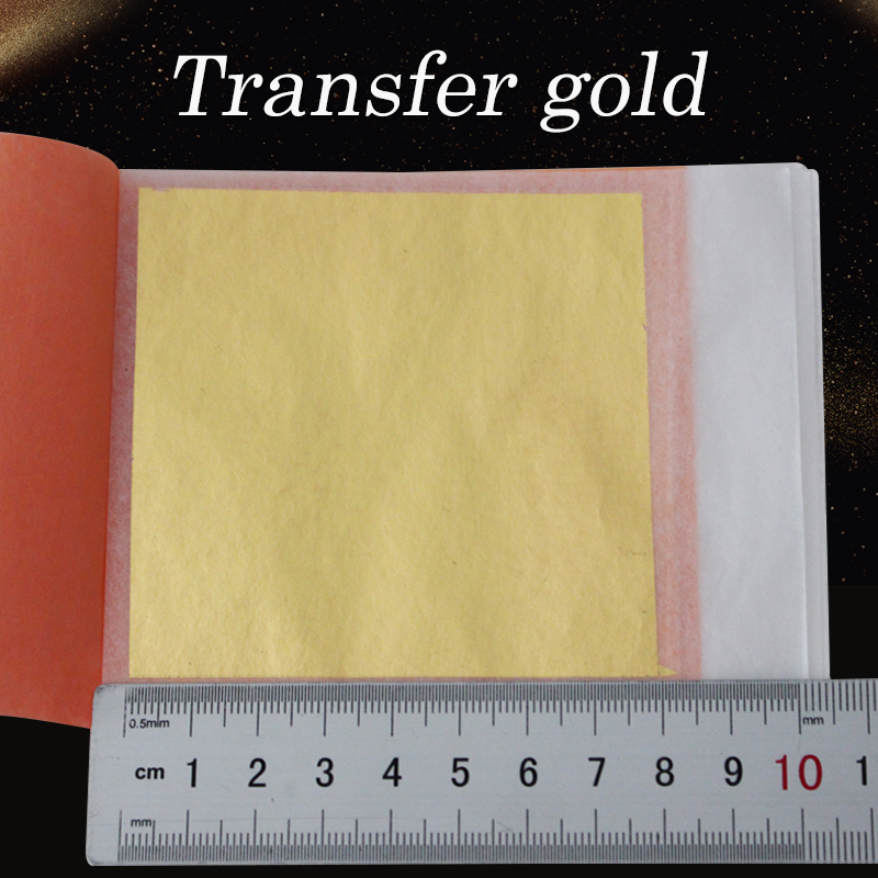 25pcs 8X8cm 24K Genuine Edible Gold Leaf Sheets One Transfer Booklet, Food Grade,crafts, Food And African Mask Free Shipping