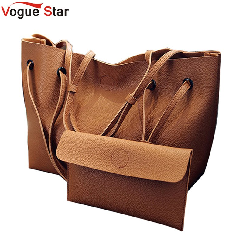 2 Set Women Composite Bag High Quality Pu Leather Shoulder Bag Large Capacity Tote Bags For Women Handbags Bolsa Feminina LB361 women bag set high quality tote bag