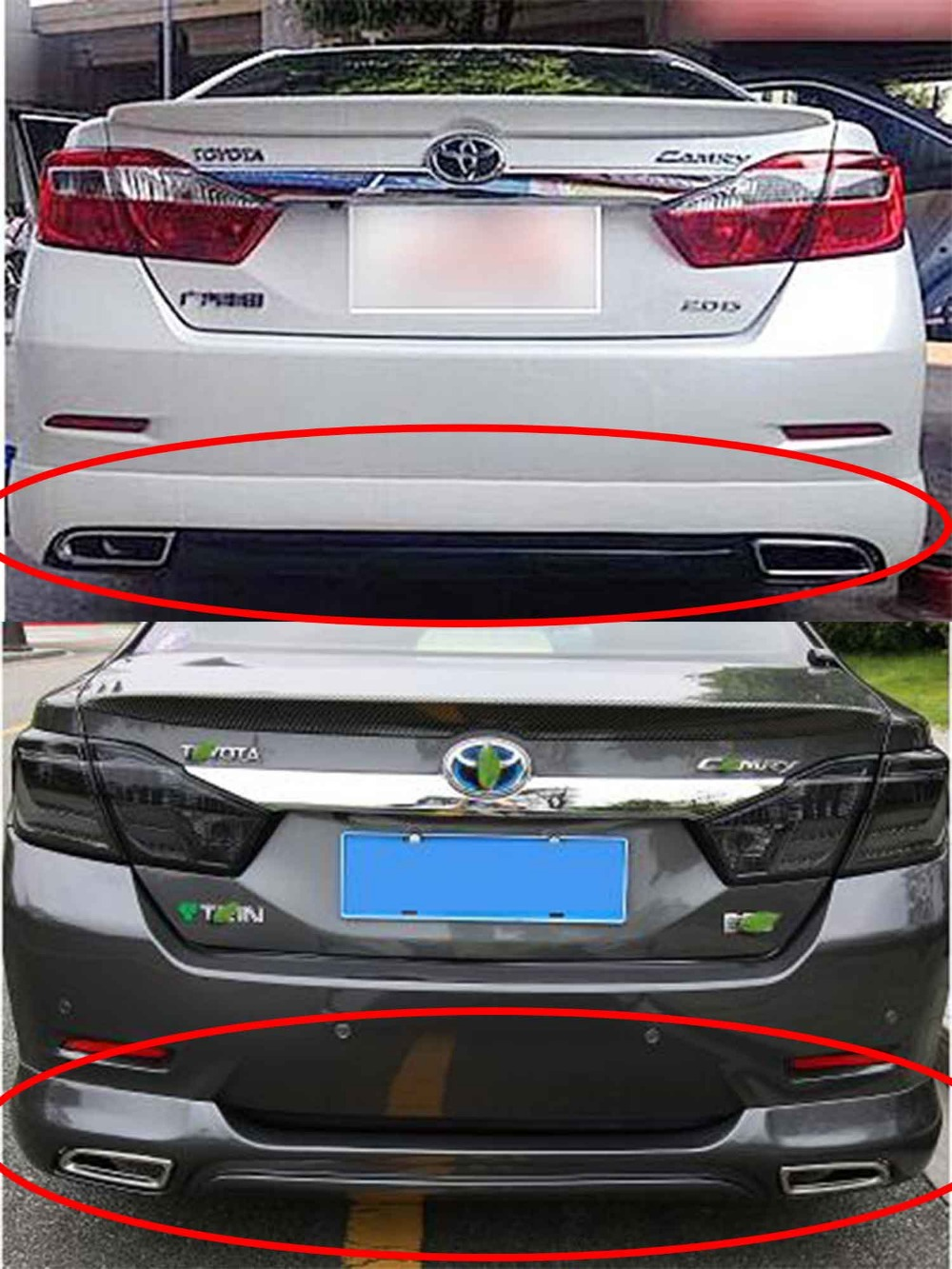 For toyota camry 2012 14 Rear Bumper Surround Body Spoiler Lip Modified-in  Bumpers from Automobiles & Motorcycles on Aliexpress.com | Alibaba Group