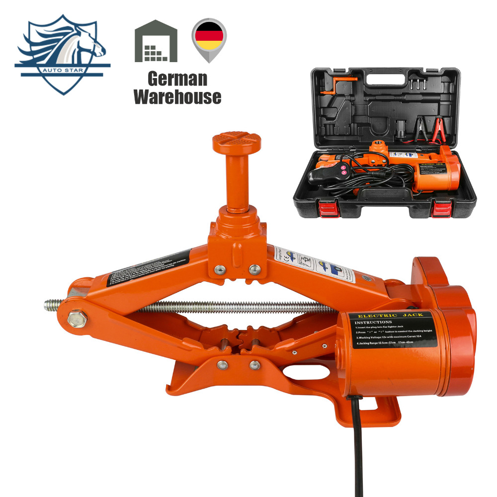 Portable 12V Electric Jack 3 Ton(6600lb) DC 12v All-in-one Lift Scissor Jack Car Repair Tool With Plastic Box Car Jack gipfel ковш super novo 16 см
