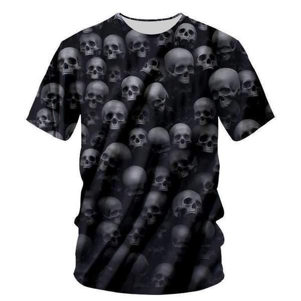 YFFUSHI 2019 Summer New 3D Print T shirts For Men Skull 3d T shirts Hip Hop Cool Hot Tops Tees Streetwear For Men/Women Big size