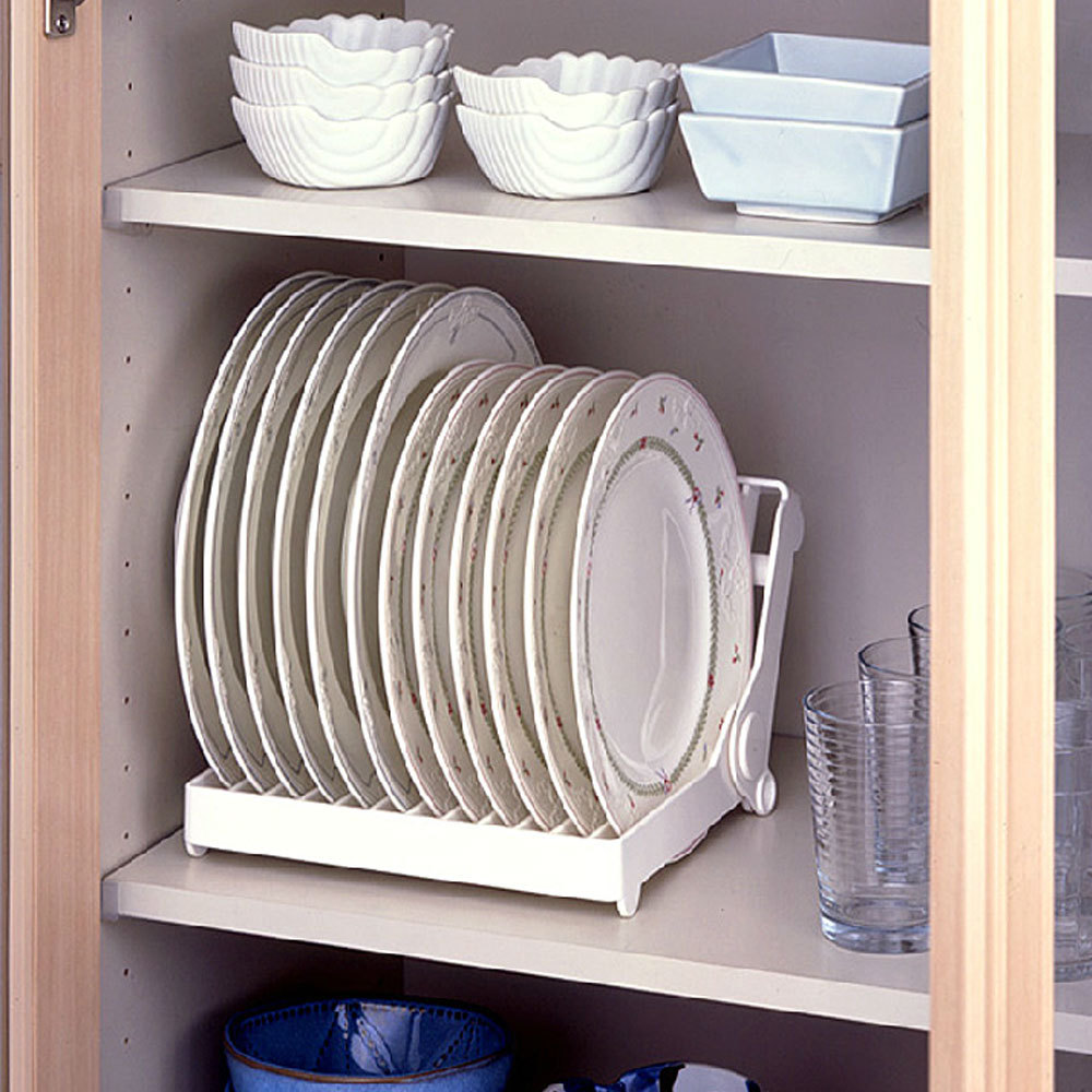 White Folding Plastic Dish Plate Storage Rack Kitchen Drying In Holders Racks From Home Garden On Aliexpress Alibaba Group