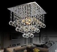 Araña de cuentas de cristal LED moderna con 1 fuente de luz tamaño: L22 * W22 * H25cm