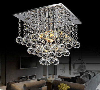 Modern LED Crystal Beaded Chandelier with 1 Light Source Size:L22*W22*H25cm