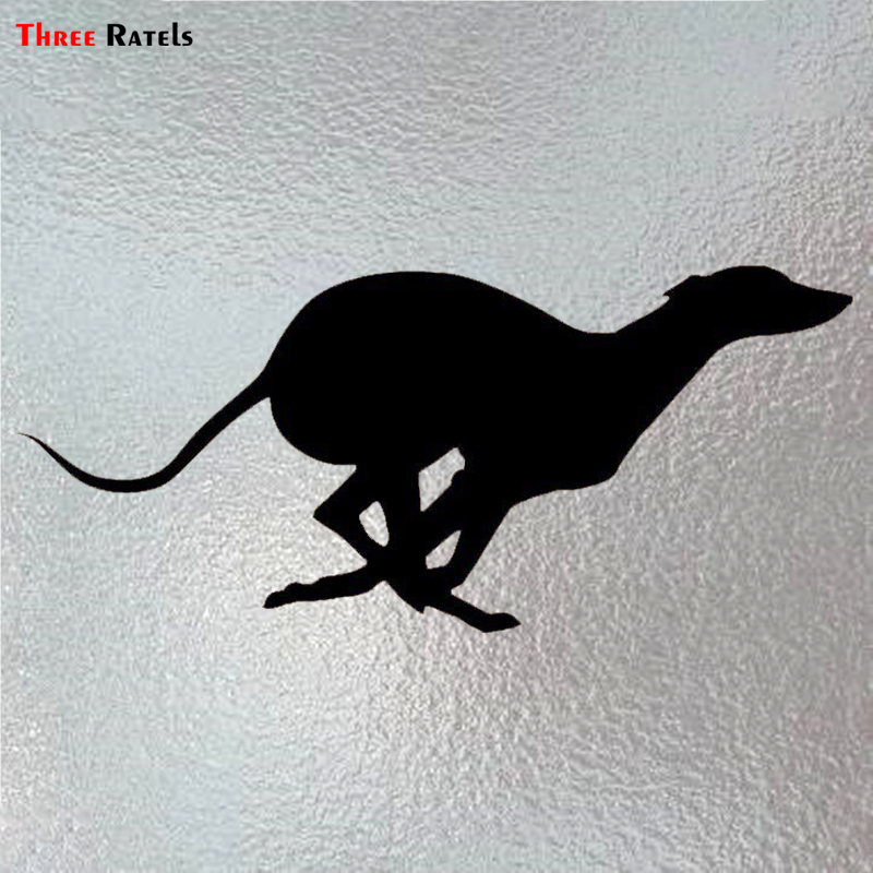 Three Ratels LBH067 # 20.4x9cm Vinyl Animal Running Greyhound Styling Removable Funny Car Stickers And Decals