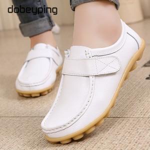 Image 5 - Cuir véritable femmes chaussures décontractées à lacets femme mocassins mocassins femmes chaussures plates solide talon bas dame chaussure doux chaussures pour femmes