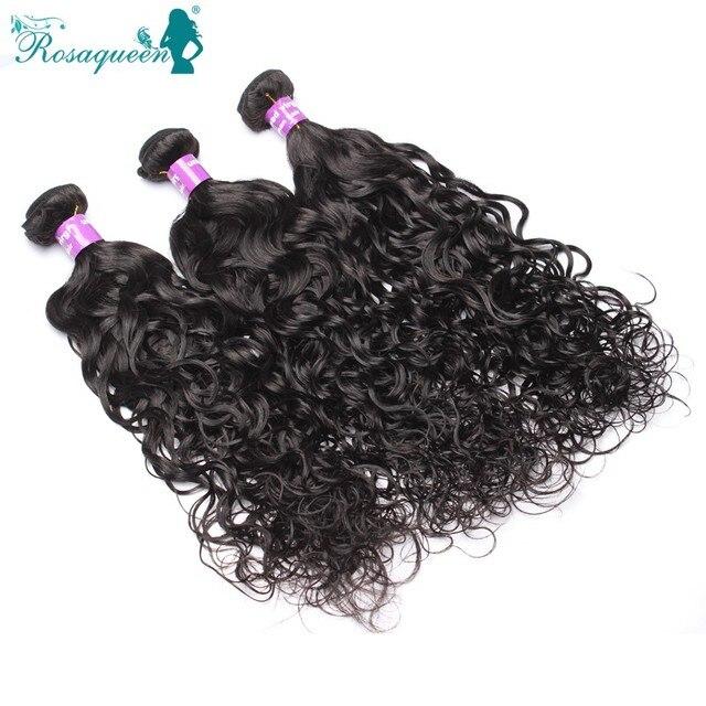 4 Bundles Water Wave Burmese Virgin Hair 6A Grade Human Hair Weave Bundles Unprocessed 100% Virgin Hair Rosa Queen Hair Products