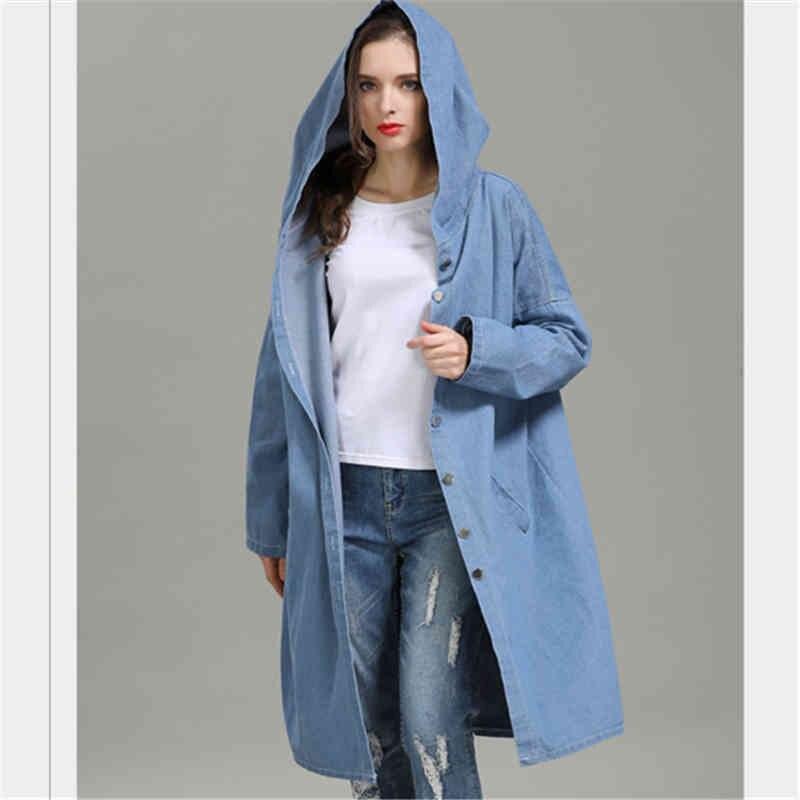 as Shown Denim Streetwear Longues Vêtements Manches À Coat As Trench 2018 Pour Nouvelle Ad0136 Femmes Shown tZq6x