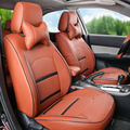 Car cover for toyota land cruiser prado seat covers customized PU leather cover seat protector black car seats cushion supports