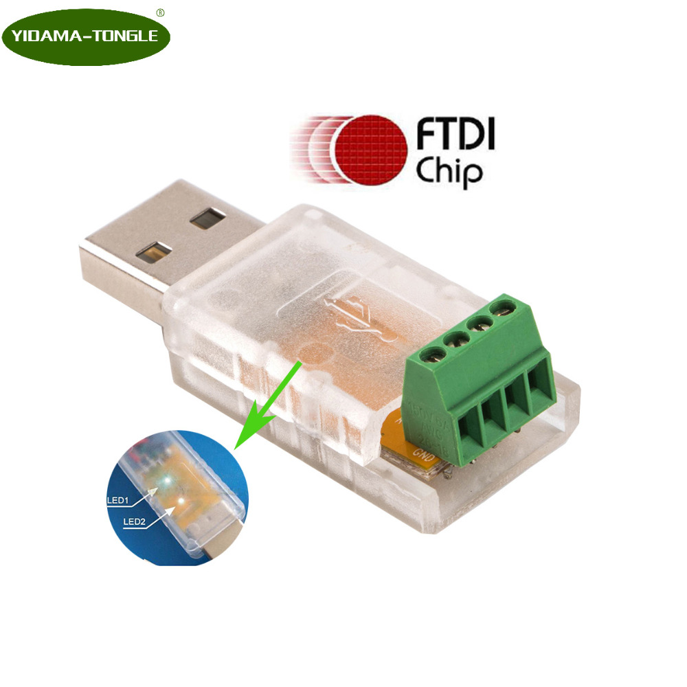 USB to RS485 485 Converter Adapter rs485 usb converter module connector Support Win7 XP Vista Linux Mac OS WinCE5.0