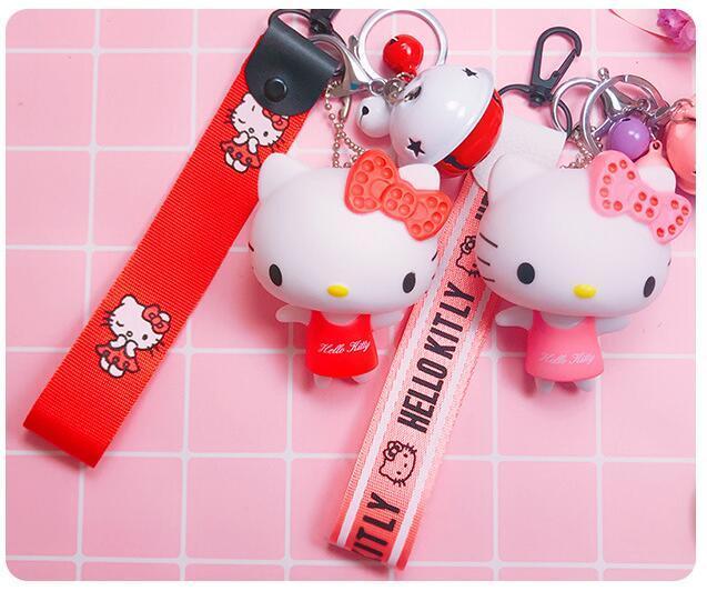5 Pcs Partie De Bande Dessinée Bonjour Kitty Bracelet Main Cloche