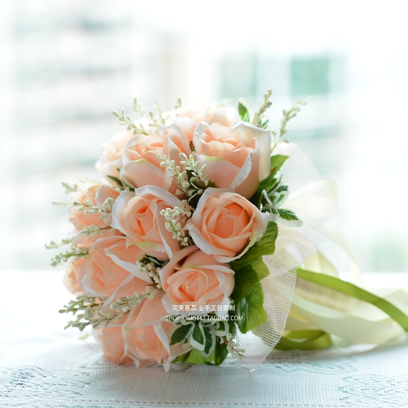 Unique Bridal Flower Bouquets : Popular champagne colored bouquets buy cheap