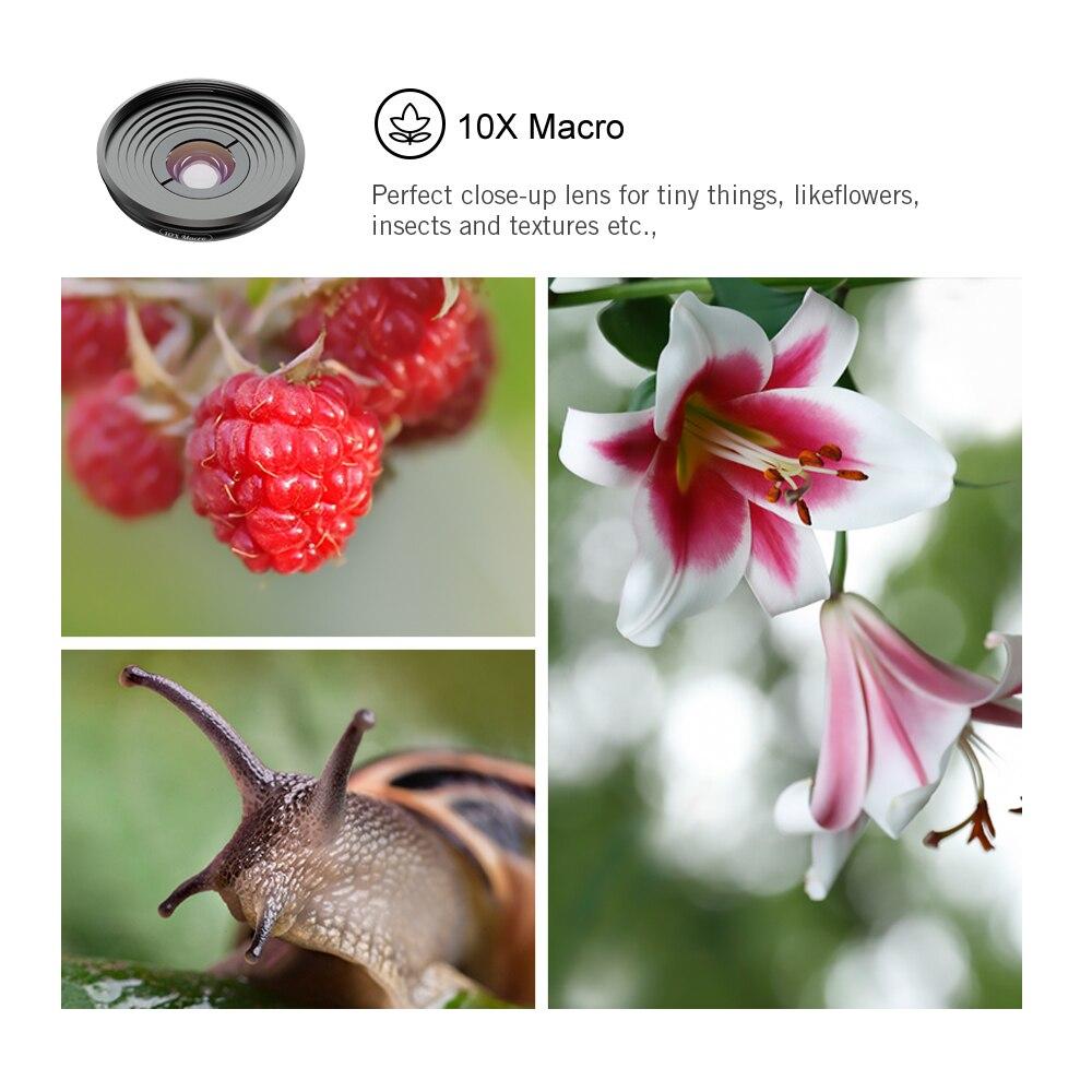 5 в 1 объектив для камеры телефона Комплект HD 4K широкоугольный телескоп Супер Рыбий глаз Макро телефон линзы для samsung Xiaomi huawei объектив - 4