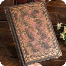 2017 A6 size 14*10 cm 128 sheets vintage hardcover diary book paper notebook with metal corner diary