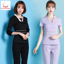 New beauty salon cosmetologist work clothes women suit trousers SPA health pedicure technician