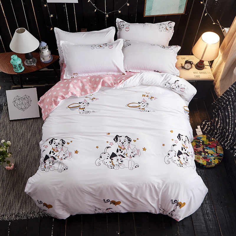 Duvet Cover Bedsheet Quilt Comforter Pillow Case 3pcs/4pcs Bedding Set Kids Soft Cotton Single Bed Linen24