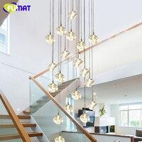FUMAT Ice Cube Escada Em Espiral do Candelabro de Cristal Lâmpadas de Teto de LED Luzes Moderno Estilo Pirâmide Camadas Penthouse Villa Hanglamp|Lustres| |  -