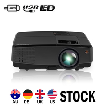 Newest Portable LED Projector Home Theater Bemaer Mobile Full HD Video Movies HDMI VGA USB