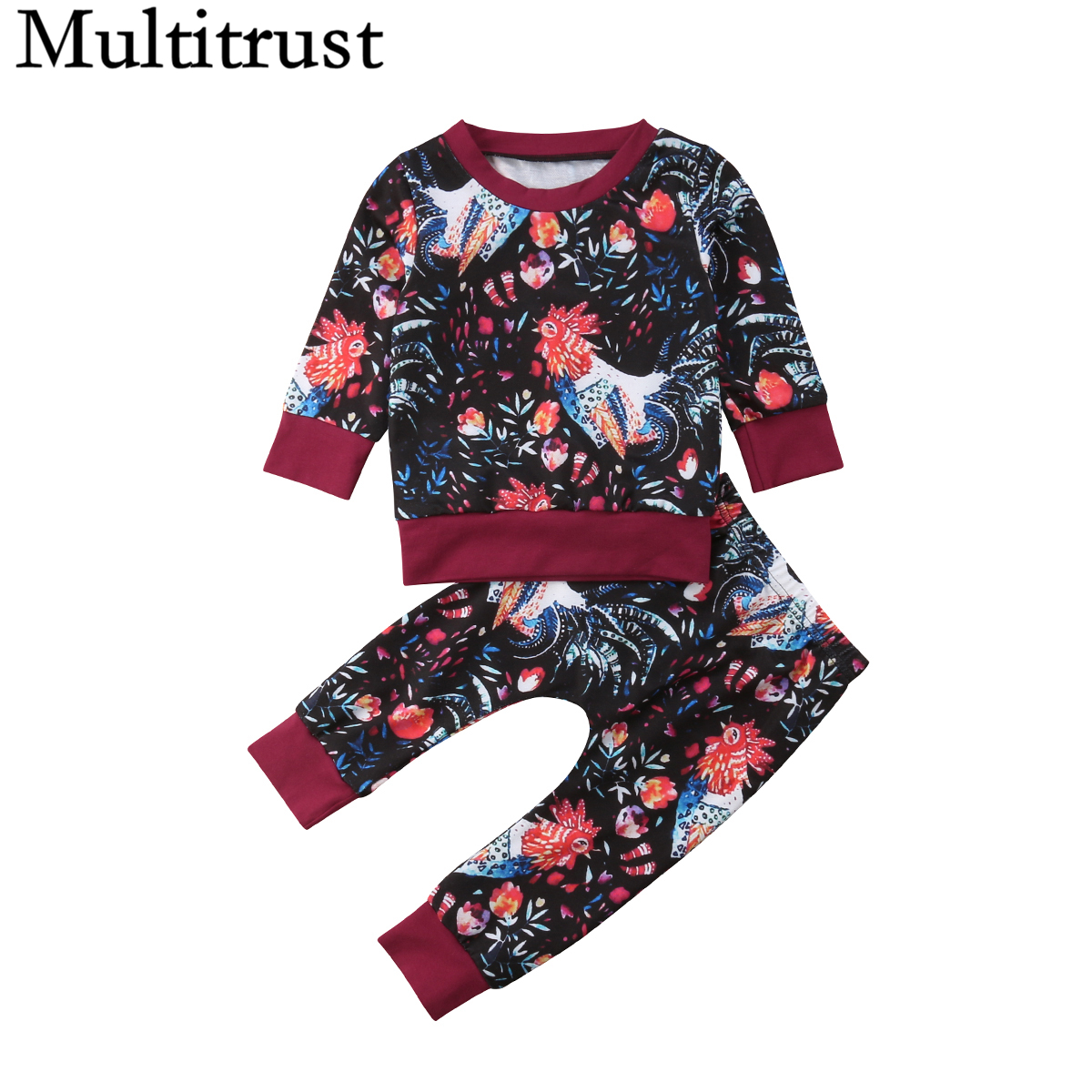 2PCS Toddler Kids Baby Girls Clothes Sweatshirt Tops Pants Tracksuit Outfits Set