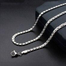 316 цепочка из нержавеющей стали 4,8 мм Серебряная цепочка Роло для плавающего медальона ожерелье высокого качества 50 см 55 см 60 см