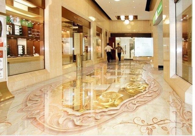 3d Fußboden Wolken ~ Goldene rose marmor d relief d boden tapeten selbstklebende d