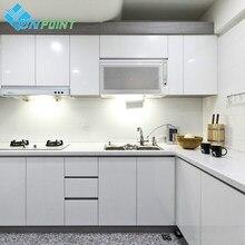 Biały DIY dekoracyjna naklejka stare meble remont samoprzylepne tapety szafa szafki kuchenne wodoodporny PVC ściany papieru