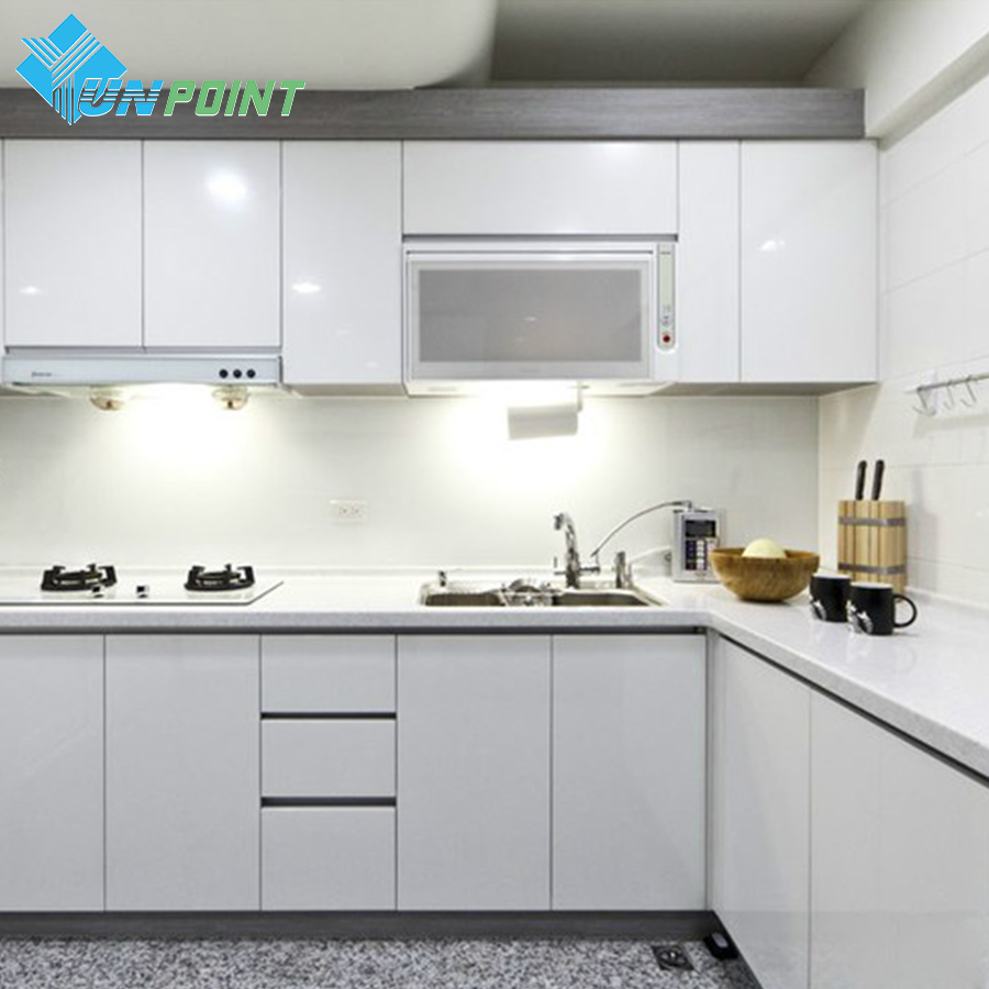 White DIY Decorative Sticker Old Furniture Renovation Self-adhesive Wallpaper Kitchen Cabinet Wardrobe PVC Waterproof Wall Paper