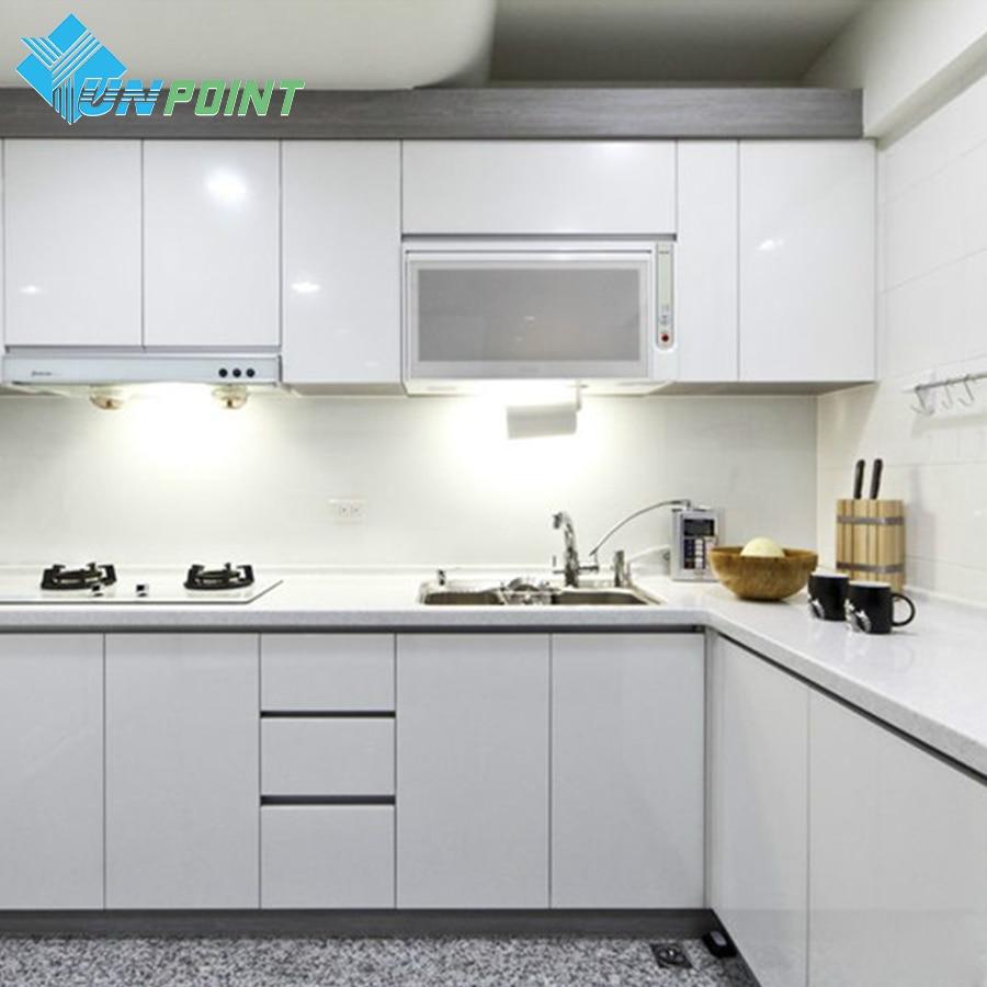 White DIY Decorative Sticker Old Furniture Renovation Self-adhesive Wallpaper Kitchen Cabinet Wardrobe PVC Waterproof Wall Paper