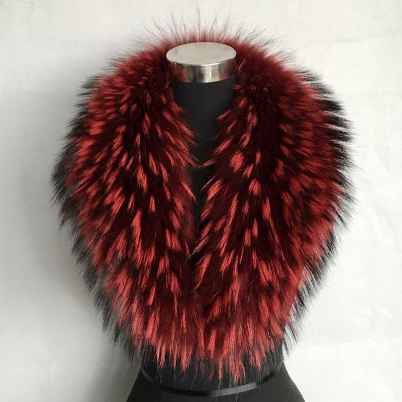 Jkp 2018 autumn and winter women's natural raccoon scarf real fur collar wild suit coat collar female