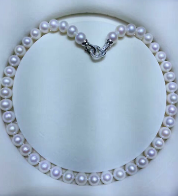 classic 11-12mm south sea white round pearl necklace 18inch 925s>Selling jewerly free shipping наволочки other 45 45 18inch