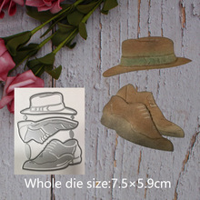 Hat and shoes Decoration Metal steel frames Cutting Dies DIY Scrap booking Photo Album Embossing paper Cards7.5*5.9cm