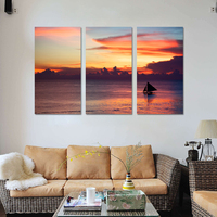 Mordern Seascape Painting Sailing Boat Oil Picture Wall Art Canvas Prints Cuadros Decoration Modular Painting NO