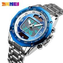 שמש גברים צבאי ספורט שעונים גברים של דיגיטלי קוורץ שעון מלא פלדה עמיד למים שעון יד relojes hombre 2019 SKMEI