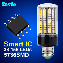 New Smart IC LED Corn Bulb E27 E14 High Lumen SMD 5736 Lampada 220V 110V Bombillas LED Lamp Bulb for home Spotlight