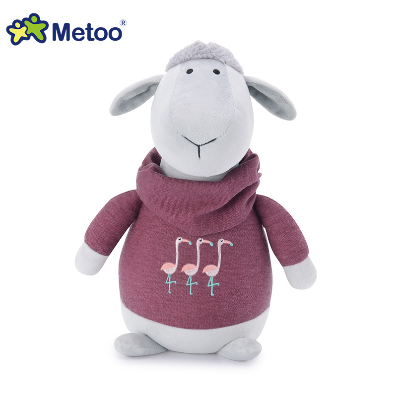 8.5 Inch Kawaii Plush Stuffed Animal Cartoon Kids Toys for Girls Children Baby Birthday Christmas Gift Sheep Metoo Doll retro angela rabbit plush stuffed animal kids toys for girls children birthday christmas gift 13 inch accompany sleep metoo doll