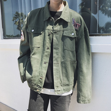 hot deal buy denim jacket outerwear coats new fashion spring autumn baseball jackets casual moownuc mwc youth men stand collar street men